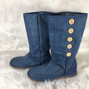 Ugg boots - Ugg Blue Denim Boots Size 8